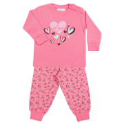 Fun2wear meisjes pyjama 'New heart' fuchsia